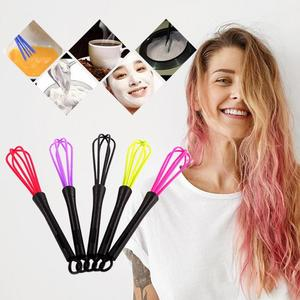 Whisk Mixer Egg Beater Silicone Egg Beaters Dyed Cream Stirrer Salon Mixer Stick Hand Egg Mixer Foamer Wisk Cook Blender Tool