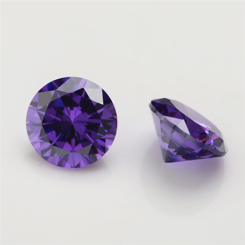 100pcs lot 0 8 4 0mm Round Shape Loose CZ Stone Violet Zirconia Synthetic Stone AAAAA Quality For Jewelry DIY stone in Beads from Jewelry Accessories