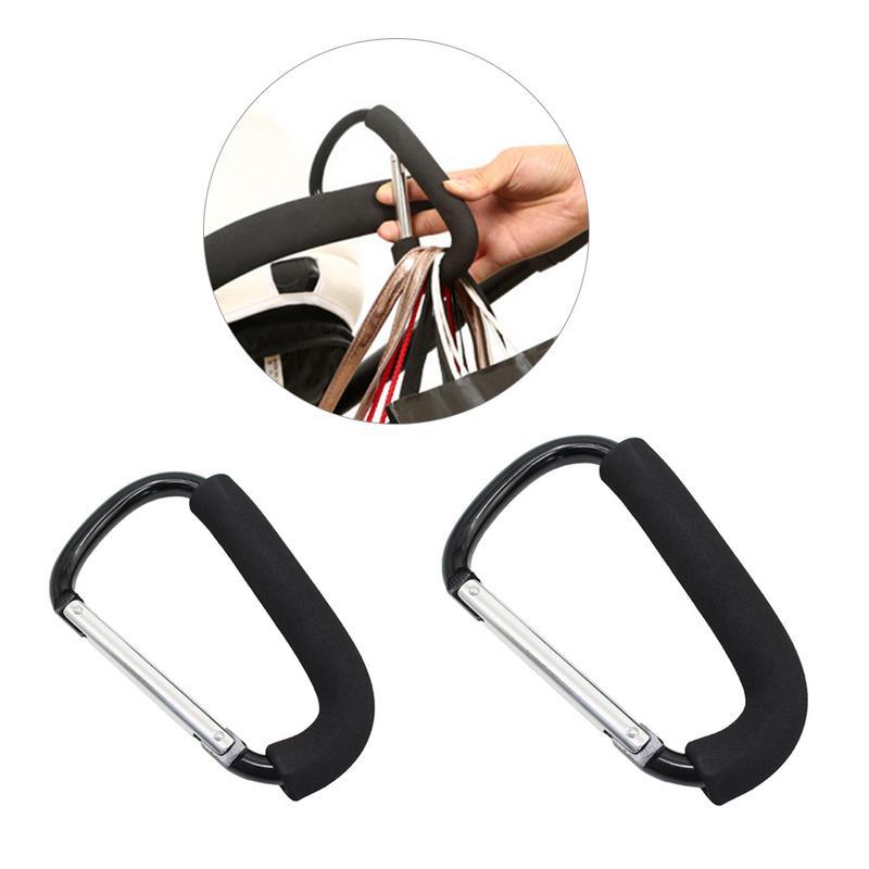 Black Hook Children Kids X-Large Aluminum Alloy Stroller Hook Set For Mommy Baby Stroller Accessories High Quality Plastic