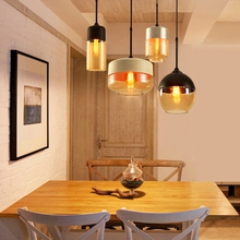 Modern LED Pendant Lights Clear Glass Lampshade Loft Pendant Lamps E27  110- 220V Dinning Room Home Decoration Lighting Fixtures gzmj country simple glass lampshade wood pendant lights hang lamps for home lighting dinning room aisle bar luminaire suspendu
