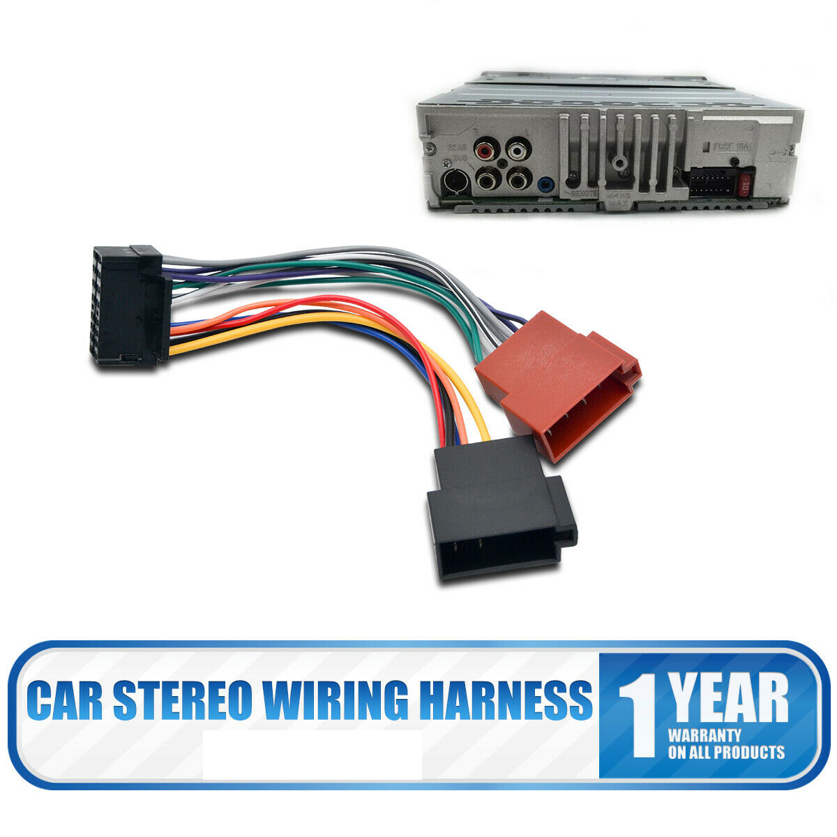 PC2-16-4 ISO to DIN Car Stereo Radio Harness Adaptor Wire ... on
