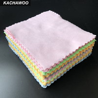Kachawoo 175mm X 145mm 100pcs Suede Microfiber Cloth for Eyeglasses Mixed Color Sunglasses Cloth Customize Logo Available