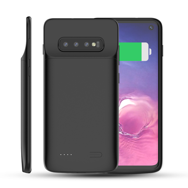pretty nice 86259 c90b2 CASEWIN For Samsung Galaxy S10 Battery Charger Case 5000mAh External Backup  PowerBank Charging Case For Samsung S10 Battery Case