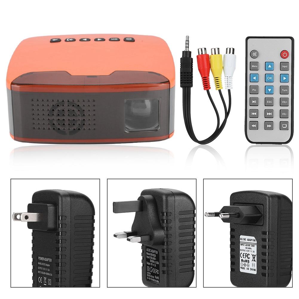 MY20 Mini Stylish1080P HD Projector Portable Home Cinema Beamer AV/HDMI/USB/TF Orange 110 240V|Home Theatre System| |  - title=