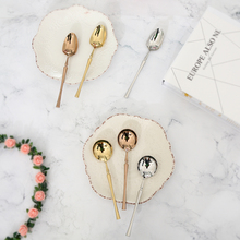 3 pcs Spoon 304 stainless steel soup spoon combination golden main Pink Party tableware free shopping hot sale