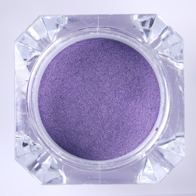 1 Box Nail Glitter Powder Purple Mirror