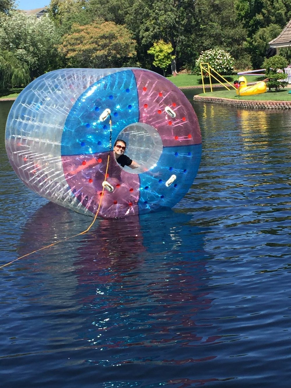 Free Shipping Tpu Colorful Inflatable Water Walking Ball Water Paly Equipment Water Roller Ball Aqua Rolling Ball Roller Wheel