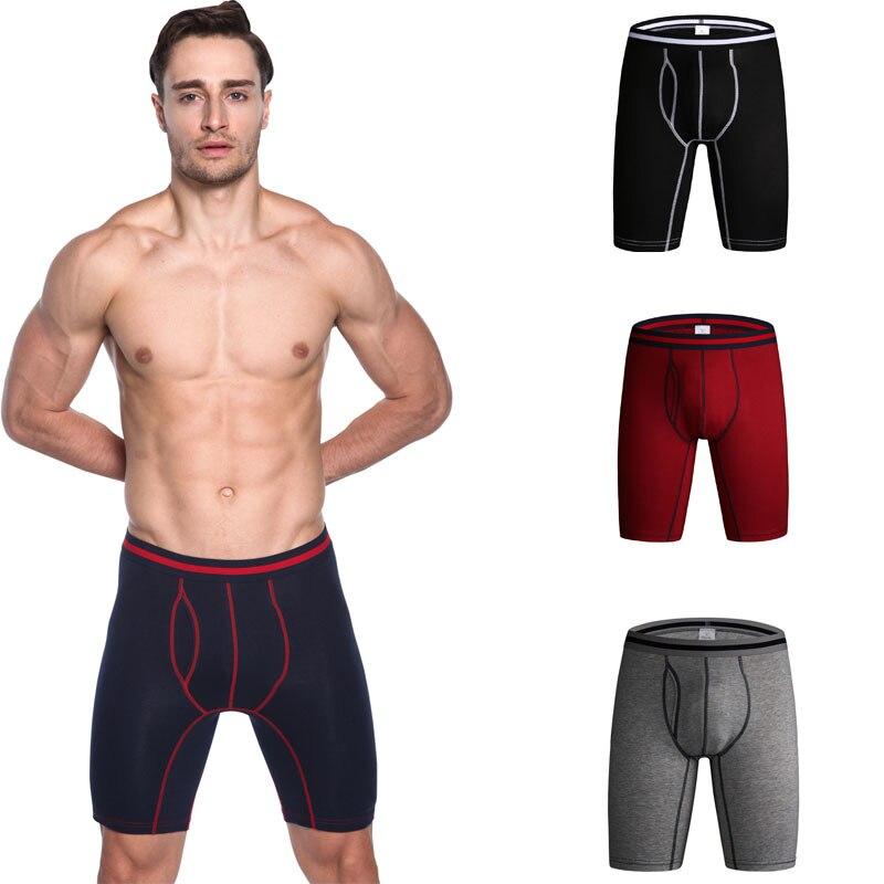 Men Underwear Boxers Pants Convex Soft Male Cotton Brand Leg-Head-Spot Cuecas