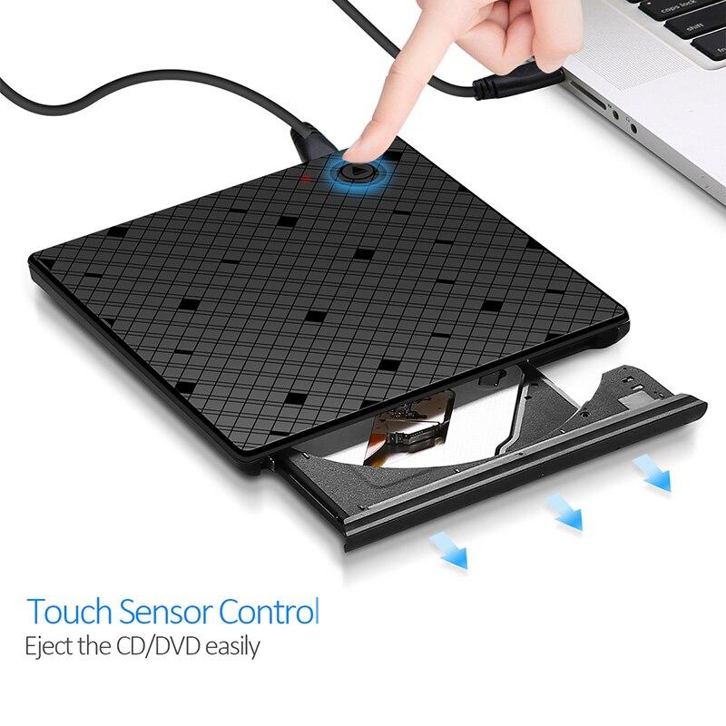 YAHEY USB 3.0 Ultra Slim Portable CD-ROM նվագարկիչ - Համակարգչային բաղադրիչներ - Լուսանկար 4
