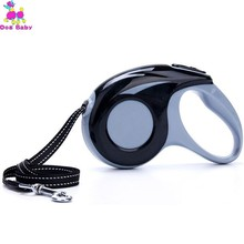 Dog Reflective Nylon Ribbon Retractable Leash For Walking Small Medium Large Breed Dogs Automatic Extendable Pet Leads