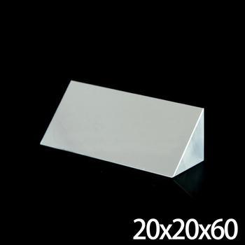 20x20x60mm Optical Glass Triangular Lsosceles K9 Prism With Reflecting Film Medicine