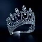 Короны оригинальный горный хрусталь кристалл Mrs красоты конкурса корона свадьбы, памятные события Свадебные аксессуары для волос стиль кор... - 1
