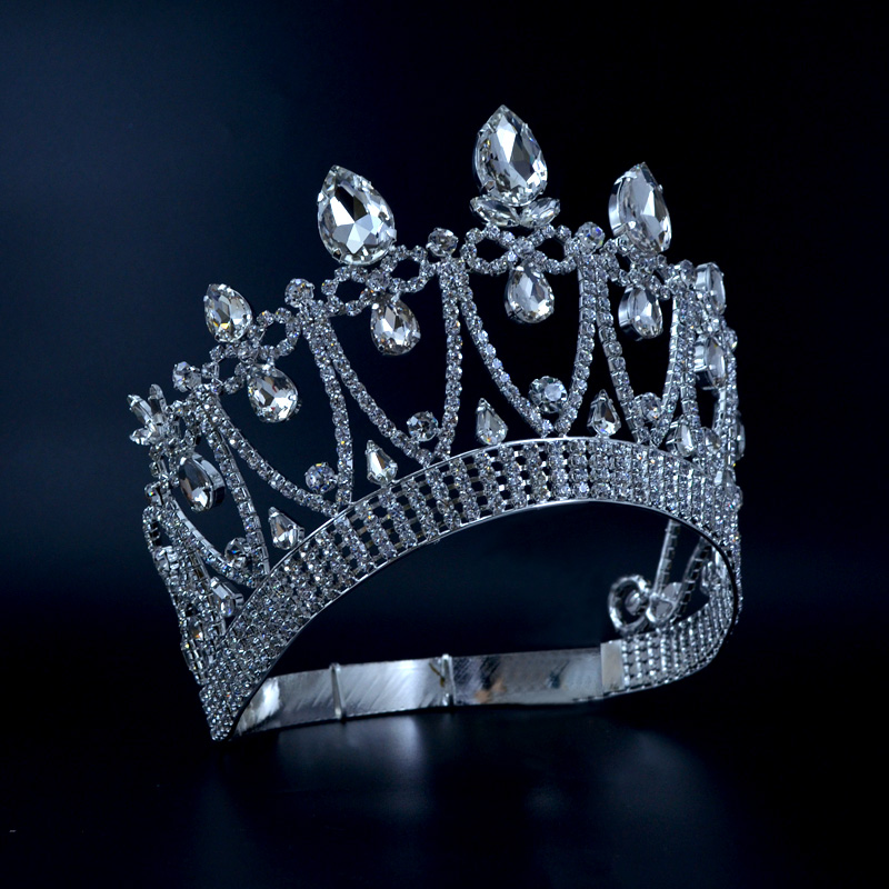 Crowns Original Rhinestone Crystal Mrs Beauty Pageant Contest Crown Weddings Events Bridal Hair Accessories Queen Princess Style