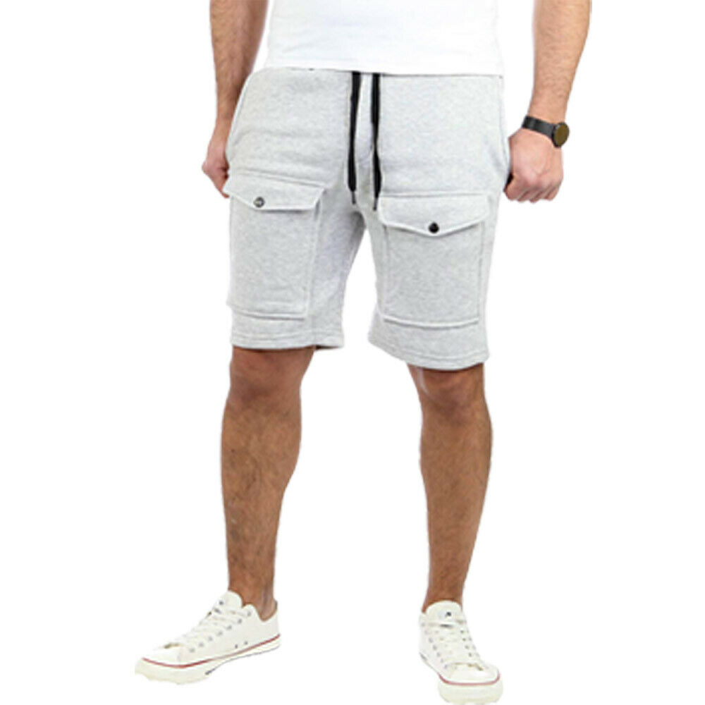 New Men Fashion Shorts Summer Loose Straight Casual Shortpants Elastic Waist Drawstring Pockets Pants