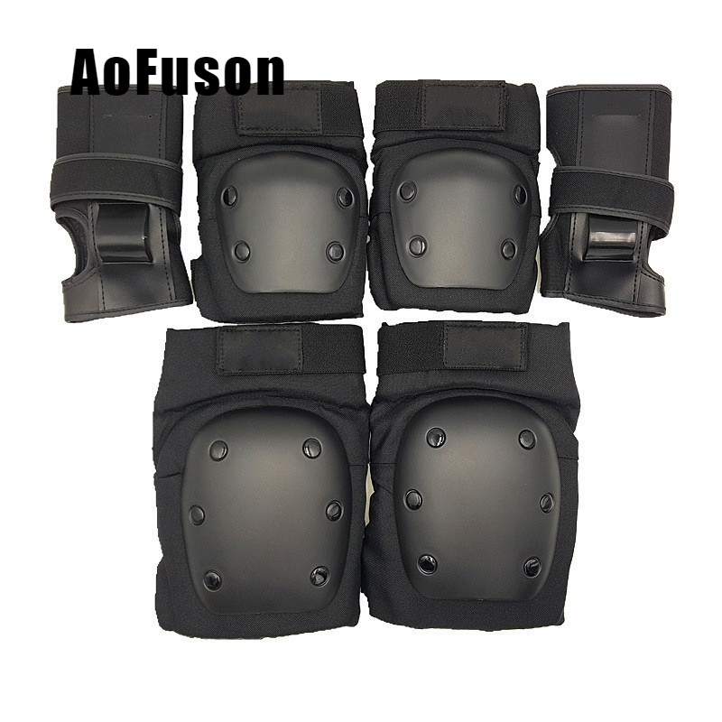 Kids Adults 6pcs Set Elbow Knee Child Roller Skates Ski Scooter Safety Protective Guard Pads