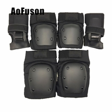 Kids Adults 6pcs/Set Elbow Knee Child Roller Skates/Ski/ Scooter/ Safety Protective Guard Pads Knee Protector Support Sports