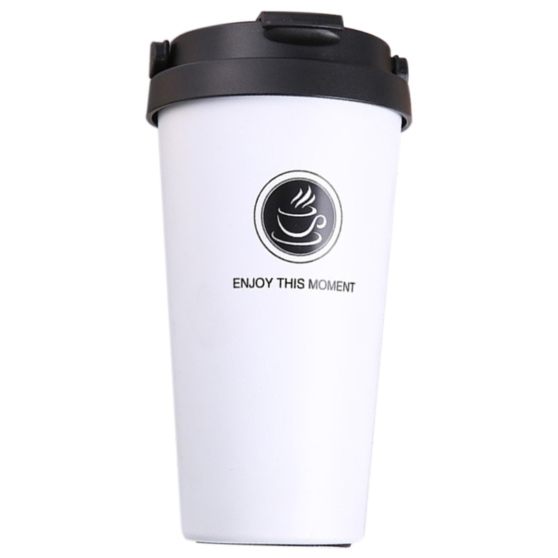 500Ml Coffee Cup Thermo cup Stainless Steel Vacuum Flasks Thermoses Sealed Thermo Mug For Car My Water Bottle Aqw891 White