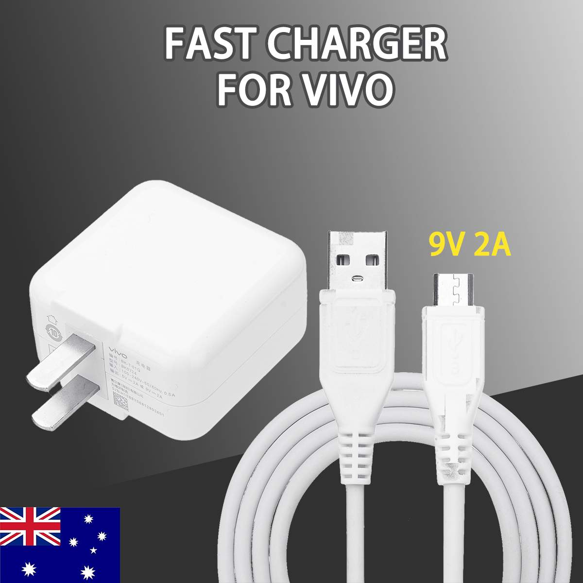 Dual-engine Portable Flash Charger Adapter&<font><b>USB</b></font> Cable <font><b>USB</b></font> Charger US Travel Chargers For Vivo x9 x7 x6 X20 X21 image