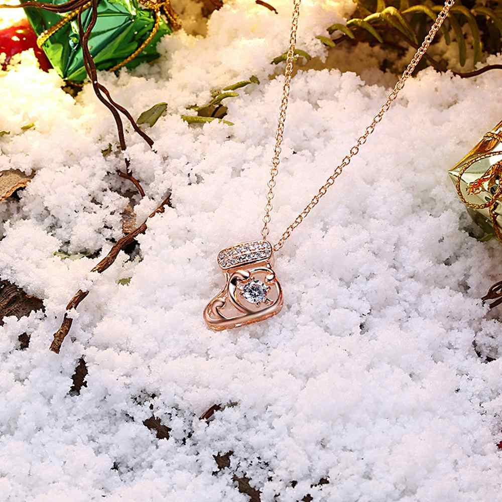 KITEAL オンラインショッピングインドゴールドカラー貴婦人ネックレスペンダントクリスマス靴下メリークリスマスギフト collares 2018 ジョイアス