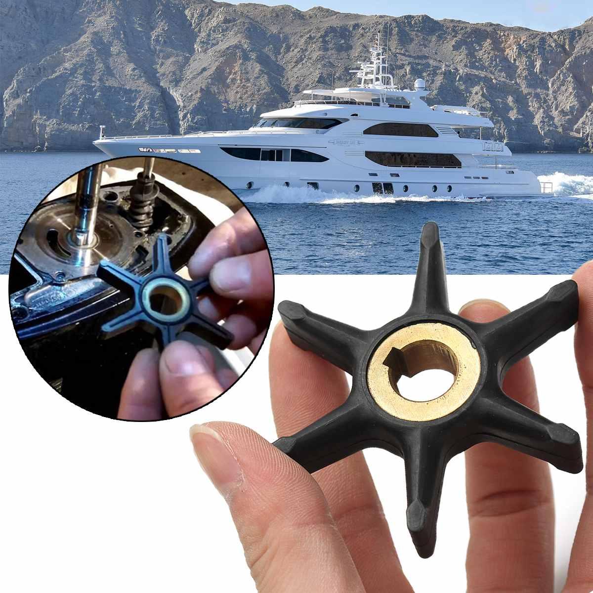 6.8cm Diameter For Johnson Evinrude Water Pump Impeller 10/15/18/20/25HP Outboard Motor 375638 Rubber Water Pump Impeller