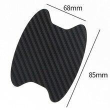 Offres spéciales 4 pièces en Fiber de carbone poignée de porte de voiture Anti rayure protecteur Film autocollant ensemble 7 couleurs disponibles