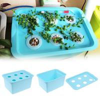 110V 6 Holes nursery pots Plant Site Hydroponic Systems Soilless cultivation plant seedling Grow Kit US Plug Safe Plant Grow Kit