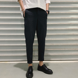 Image 2 - 2019 Spring And Summer New Korean Version Of The Chinese Style Mens Harlan Casual Sports Solid Color Dating High quality Pants