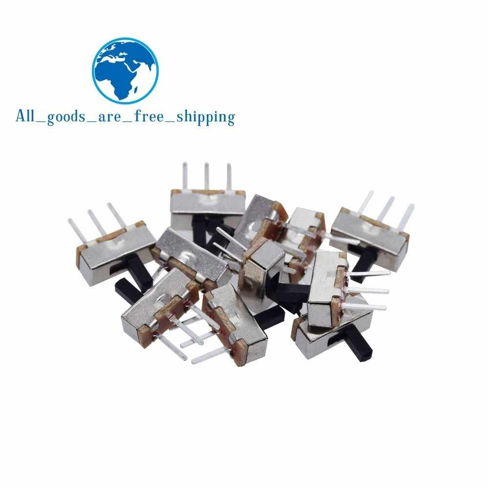 10Pcs Interruptor On-Off Mini Slide Switch SS12D00 SS12D00G3 3pin 1P2T 2 Posisi High Quality Toggle Switch Handle panjang: 3MM