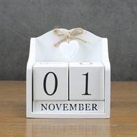 2019 креативный Diy деревянный блок вечный Настольный календарь статуэтки календарь деревянный календарь модные украшения для дома и офиса по...