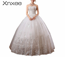Xnxee new 2018 white princess fashionable lace dress romantic tulle dresses Vestidos De Novia