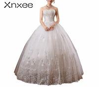 Xnxee new 2018 white princess fashionable lace dress romantic tulle dresses Vestidos De Novia Xnxee