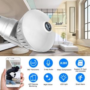 Image 5 - 960 P/1080 P 200W Bóng Đèn Camera IP 360 Độ Toàn Cảnh Wifi Không Dây Tầm Nhìn Ban Đêm P2P Cam phát Hiện Chuyển Động Bé Thú Cưng Camera