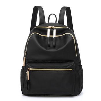 abb44c977248 2019 Горячая Классический для женщин рюкзак черный Мода Ткань Оксфорд  большой ёмкость непромокаемая сумка