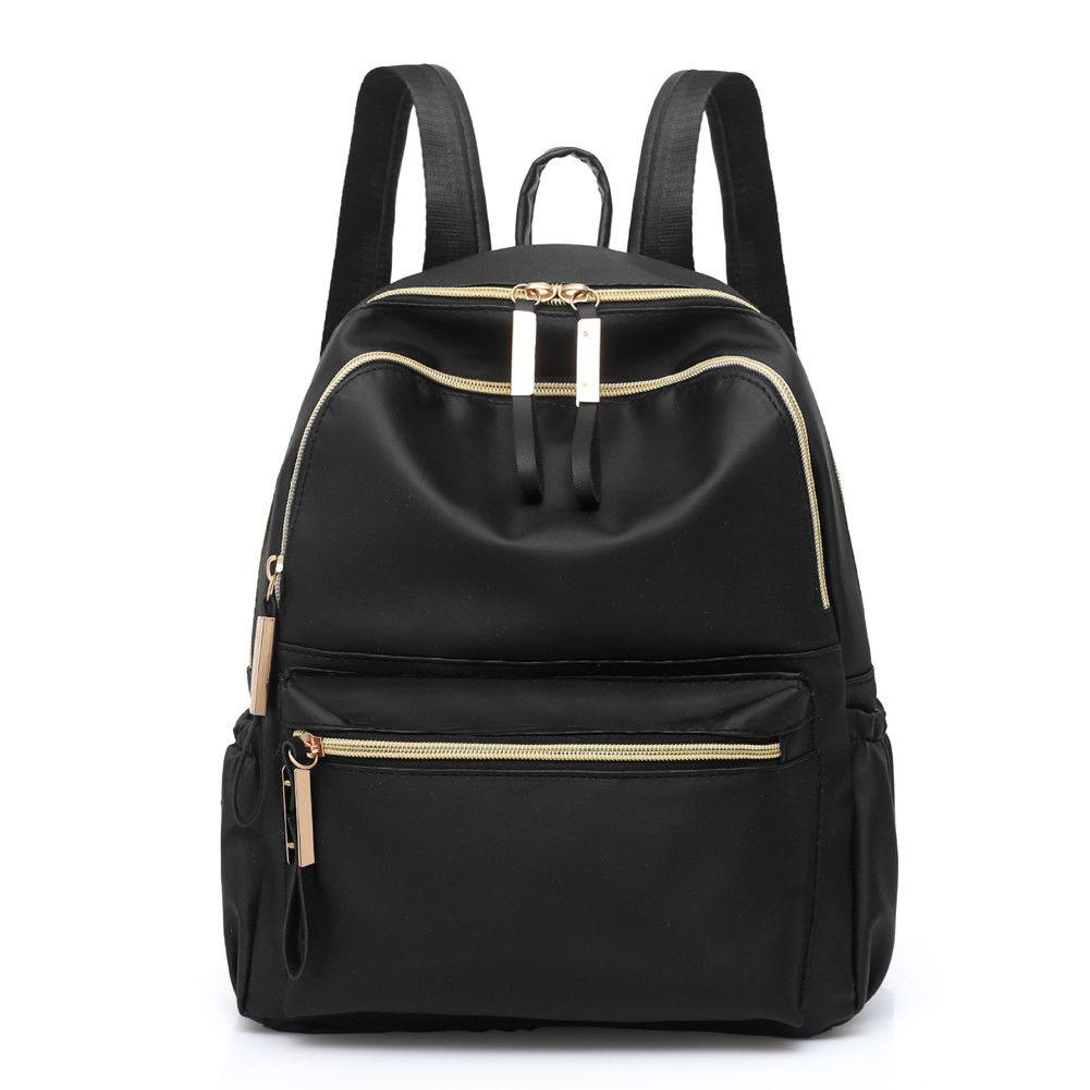 2019 Hot Classic Women's Backpack Black Fashion Oxford Cloth Large Capacity Waterproof Shoulder Bag