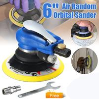 6 Inch 10000rpm Round Air Palm Orbital Sander Random Polisher Grinding Sanding Tools with Wrench