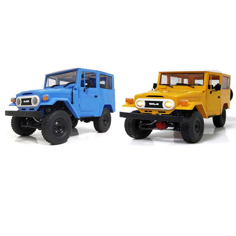 WPL C34 1/16 2CH 4WD 2.4G Buggy Crawler Off Road Racing Car Metal/Plastic RC Auto Speelgoed Cadeau geel & Blauw