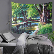 Tapestry Gorgeous forest scenery Beautiful Wall Art 130cmx150cm Europe Livingroom Modern Decorative LZU6
