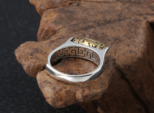Handmade Good Luck Six Words Proverb Ring8