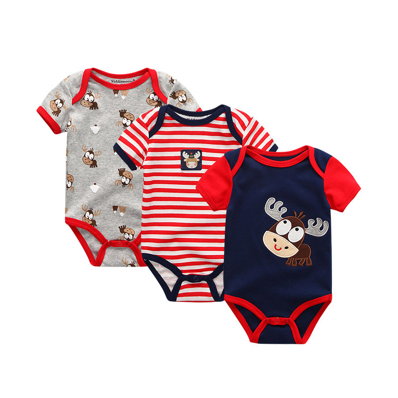 2019 3PCS Lot Unicorn Baby Boy Clothes Newborn Baby Girl Clothes 100 Cotton 0 12M Bodysuits 2019 3PCS/Lot Unicorn Baby Boy Clothes Newborn Baby Girl Clothes 100%Cotton 0-12M Bodysuits Girls Clothing Roupas de bebe