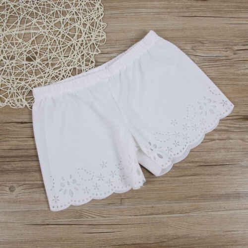 Moda damska damska stałe lato wysokiej talii luźne spodnie na co dzień krótkie Mini wakacje plaża spodenki
