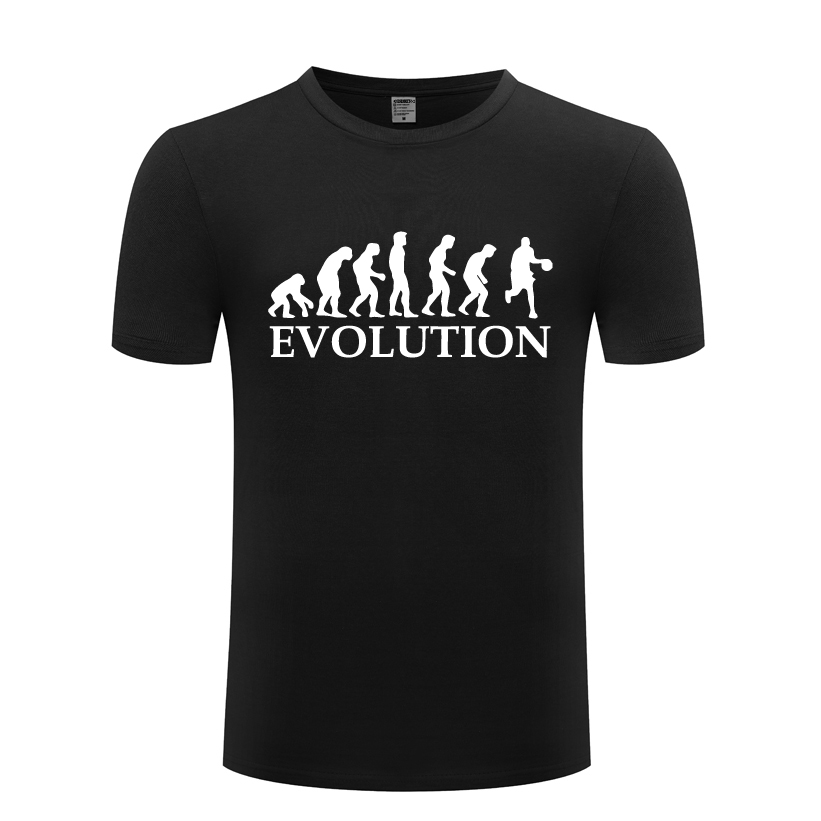 Basketball Evolution Novelty Mens T-shirt T Shirt Men 2018 New Short Sleeve O Neck Cotton Casual Top Tee Convenient To Cook Tops & Tees