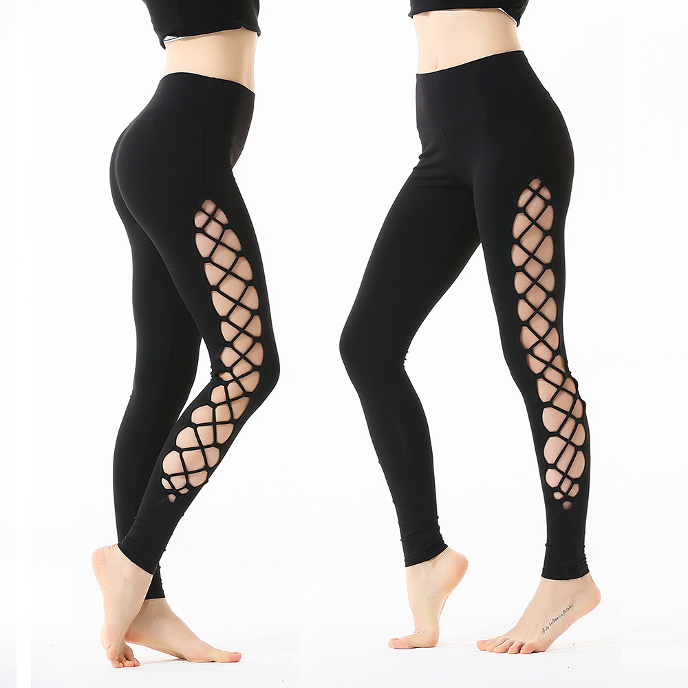 Hero Catcher-10 Side Hollow Sexy Fitness Legging High Spandex Hip Up Workout Pants Women Sports Leggings High Quality