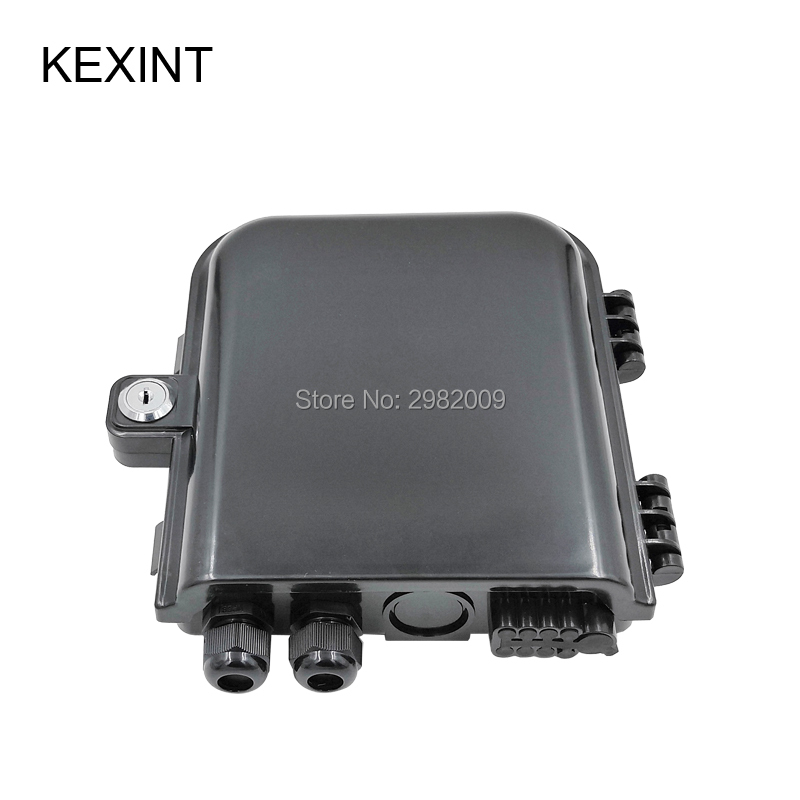 KEXINT 8 Port FTTH Fiber Optic / Distribution Box 8 core Termination Box Strong   10PCSKEXINT 8 Port FTTH Fiber Optic / Distribution Box 8 core Termination Box Strong   10PCS