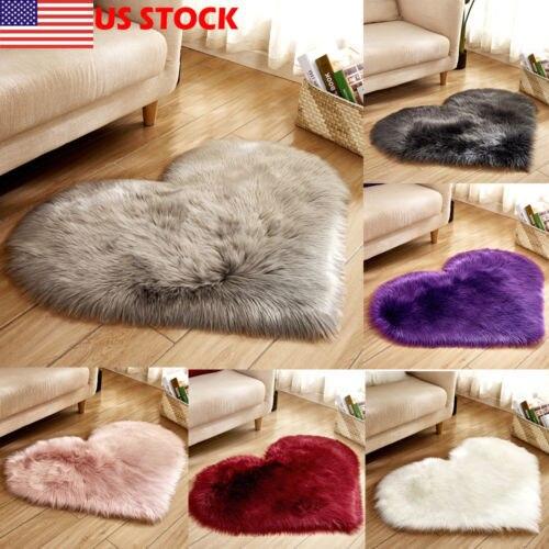1 Pcs Heart Shape Carpet Floor Mat Rug Soft Plush For Home Living Room Bedroom Hot New Heart Plush Rug Soft Vogue Ground Mat