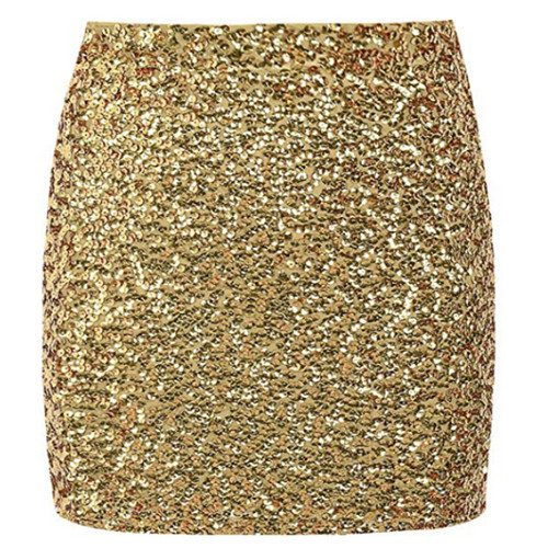 Pretty Guide Women's Ladies Skirts Club Fashion Sexy Outwear Hots Sequin Skirt Stretchy Bodycon Sparkle Mini Party Holiday TOP