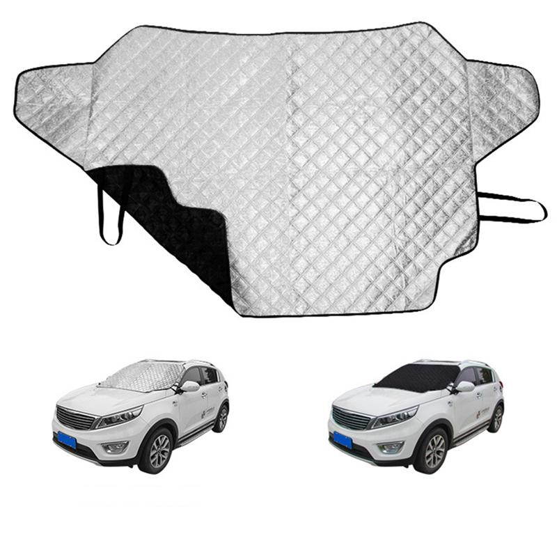 Image 4 - 3 Size Car Windshield Sun Shade Thickened Anti Wind Sun UV Sun Rain Snow Dust Protection Front Window Protectors Cover-in Car Covers from Automobiles & Motorcycles