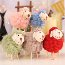 Creative wool felt lovely sheep home photography props handicraft Hotel shopping mall small gifts Christmas decoration