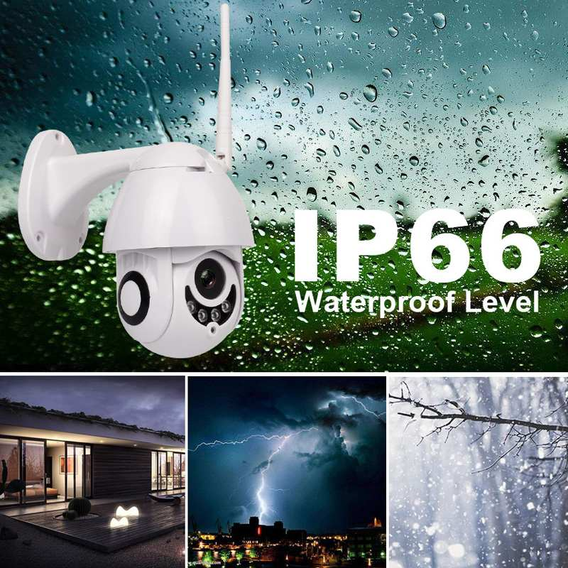 Onvif Infrared Night Vision Two Way Audio Security Video Surveillance Camera 2.0MP HD 2.4G Wifi IP Camera IP66 Waterproof PTZOnvif Infrared Night Vision Two Way Audio Security Video Surveillance Camera 2.0MP HD 2.4G Wifi IP Camera IP66 Waterproof PTZ