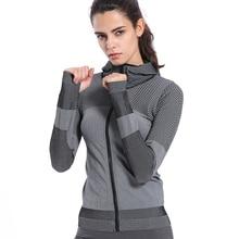 BINAND Женская Профессиональная нейлоновая Спортивная Толстовка для бега, спортзала, высокая эластичность, впитывает пот и влагу, облегающая толстовка с капюшоном для фитнеса