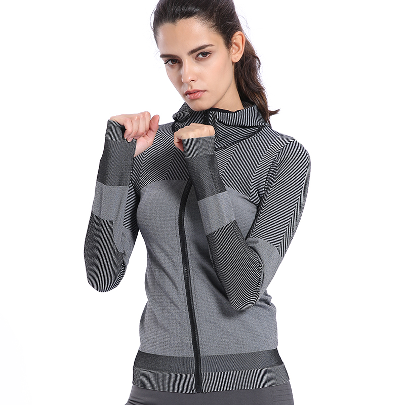 BINAND Women Profession Jogging Gym Nylon Sports Hoodie High Elastic Tight Sweat-wicking Slim-fit Fitness Hooded Sweatshirts